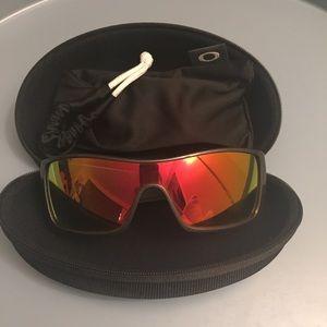 Batwolf Oakley  sunglasses red mirror/back set